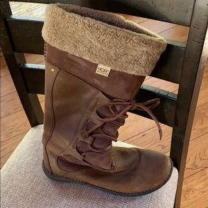 UGG leather boots size 10